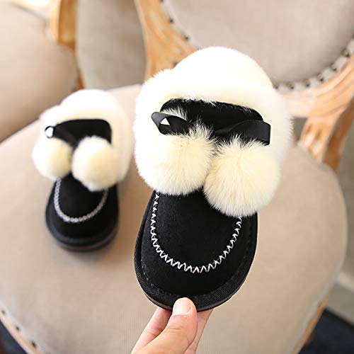 Unisex Boots Winter, Kids Martin Sneaker Baby Booties, PU Leather Snow Fur Fur Fur Fur Fur Fur Fur Fur Fur Fur Fur Fur Fur ()