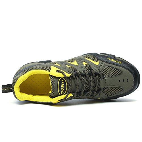 JEDVOO Uomo Scarpe da Trekking Scarpe da escursionismo Sportive Sports Running Basket Sneakers all'aperto Verde