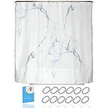 180x200 cm wei/ß ZOLLNER Duschvorhang mit 12 /Ösen ca weitere verf/ügbar