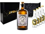 Monkey 47 Gin Tonic Set / Geschenkset - Monkey 47 Schwarzwald Dry Gin 500ml (47% Vol) + 4x Thomas Henry Tonic Water 200ml