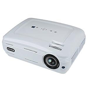 Vidéo Projecteur, Crenova 720P HD Projecteur , Projecteur Multimédia Multimédia Multimédia Pour Cinéma Maison HD 1080P Panneau LCD 5,8 po Entrée HDMI / VGA / AV / USB avec Câble HDMI Gratuit Support TV Jeu d'ordinateur Portable U Disk