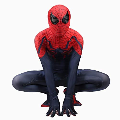 Yanbeng Premium Spider-Man Super Skin Kostüm Kinder Erwachsene Unisex Second Skin Spiderman Kleidung Outfit Halloween - Super Kostüm Skins