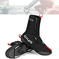 AUOKER Waterproof Cycling Shoe Covers, Windproof Bike Bicycle Overshoes for Men Women Thermal Warmer, High Reflective Water-Resistant Warm Tight Fit Foot Covers for Mountain Road Bike Shoes