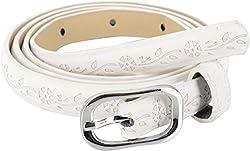 SRI Women's Causal White Belt - 1.5CMS