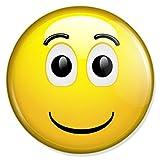 Happy Smiley Button, Badge, Anstecker, Anstecknadel, Ansteckpin