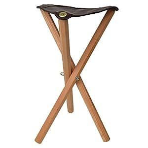 Artina - TABOURET de peintre - peiden bois massif et assise en faux cuir - Cannes - trépied