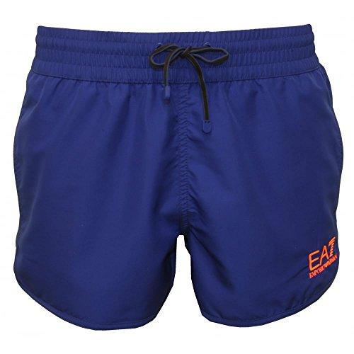Emporio Armani Sea World Bright Men's Swim Shorts, Electric Blue