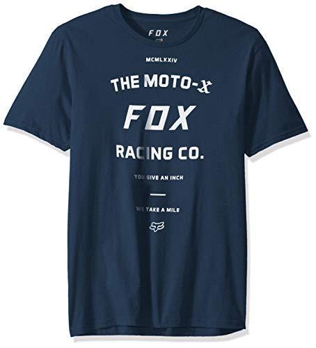 Fox Herren Victory Short Sleeve Premium T-Shirt, Navy, Groß - Fox Navy T-shirt
