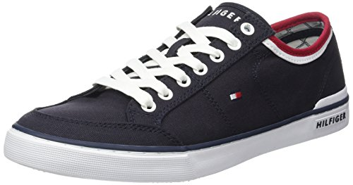 Tommy Hilfiger Core Corporate Textile Sneaker, Zapatillas para Hombre, Azul (Midnight 403), 41 EU