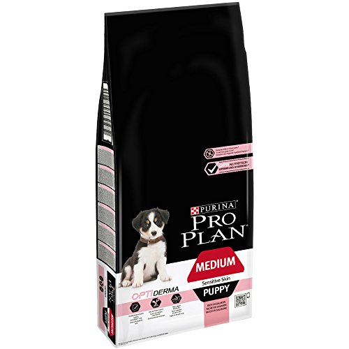 Pro Plan Dog Medium Puppy, Sensitive Skin, Reich an Lachs, Trockenfutter Beutel