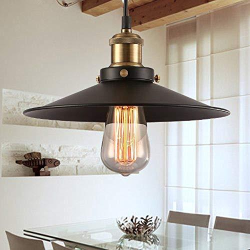 Design Luminaire Suspension Vintage Edison Loft Style, Makion Moderne IKEA Lampe Pendante & Lampe Plafonnier, DIY Installation Facile pour éclairage Cuisine, Salle à manger, Salon, Chambre D'enfants et de restaurant(Noir E26 / E27)