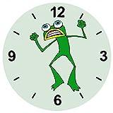 'Cristal Reloj 'Frog de Anfibios de wütend de animales de color verde de verrückt de tortuga...