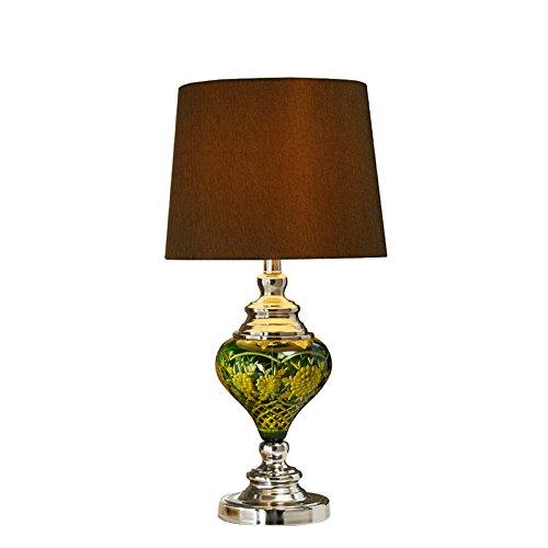 tliche Glas Lampe Nachttischlampe Schlafzimmer minimalistischen modernen östlichen Mittelmeer Wohnzimmer - style Tischleuchte warme Idee ()