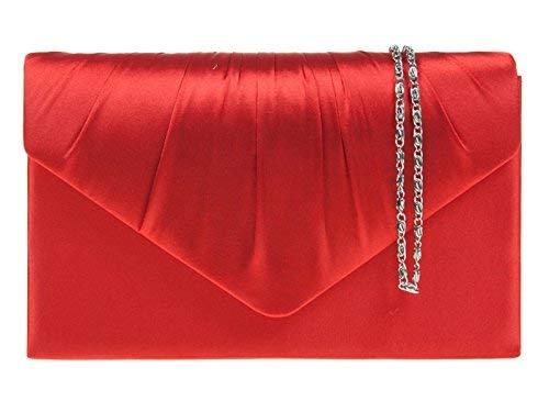 fi9® , Damen Clutch Mehrfarbig rot