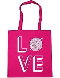 HippoWarehouse Love Crocheting Bolso de Playa Bolsa Compra Con Asas para gimnasio 42cm x 38cm 10