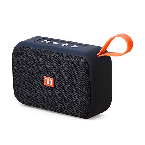 Bluetooth Lautsprecher 5.0,Wireless Tragbarer 360° Stereo Sound Mini Bluetooth Speaker mit USB-C, Unterstützung für TF/Aux/Micro-SD-Karte/FM,Kabelloser Lautsprecher für Indoor & Outdoor