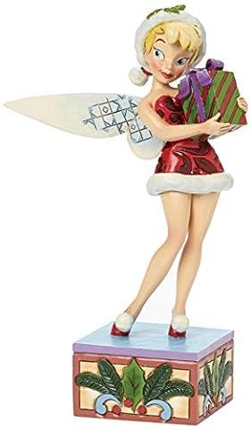 Disney Traditions 4041808 Figurine Fée Clochette Porte un Cadeau 19 cm