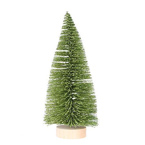 VNEIRW Mini Weihnachtsbaum künstlich,Kiefer Nadelbaum,Künstlicher Christbaum Grün Tannenbaum künstliche Tanne mit Holzständer für Tischdekoration (15 cm)