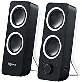 Logitech Z200 2.1 Luidspreker Met Subwoofer (Surround Geluid, 10 Watt Piekvermogen, 2 X 3,5 Mm Ingangen, Volumeregelaar, Pc/Tv/Smartphone/Tablet) Midnight Black