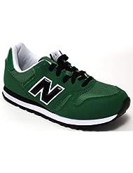 New Balance KJ 373 - Zapatillas de Piel para hombre Verde Verde/Nero