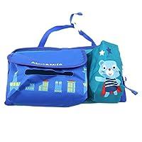 LWANFEI Car Seat Storage Bag Hanging Waterproof Organizer Protector Kick Mat Multifunction Multi Pocket Car Back Seat Travel Bags,Blue