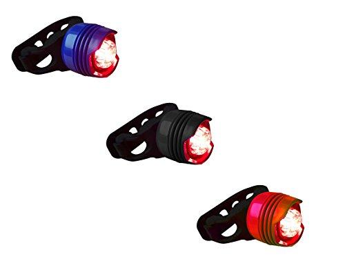 LED Fahrradrücklicht mini sehr klein und hell mit Silikon Schnellverschluss für MTB Mountainbike Tracking und Rennrad alle