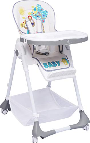 R for Rabbit Marshmallow High Chair for Baby - The Smart Baby High Chair/Feeding Chair(Grey)