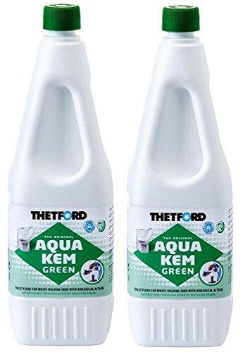 Thetford Aqua Kem Green 1,5 Liter - Sanitärflüssigkeit - 2er Set (9,30 € pro liter)