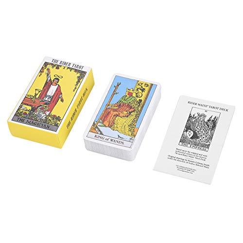Asixx Tarot, Tarot, Cartas Tarot, Juego de Cartas, de Papel de Calidad, para Jugar con Amigos, Fammiliares, Etc