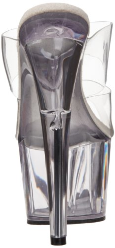 Pleaser Ado702 / C / B, Damen Sandalen Transparent (transparent)