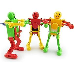 UChic 3 STÜCKE Kreative Niedlichen Tänzer Uhrwerk Frühling Tanzen Roboter Wind up Spielzeug Retro Vintage Mechanische Spielzeug Baby Spielzeug Kinder Geschenke Bei Farbe zufällig