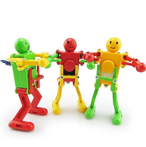 UChic 3 STÜCKE Kreative Niedlichen Tänzer Uhrwerk Frühling Tanzen Roboter Wind up Spielzeug Retro Vintage Mechanische Spielzeug Baby Spielzeug Kinder Geschenke Bei Farbe zufällig - Walking-spielzeug-roboter