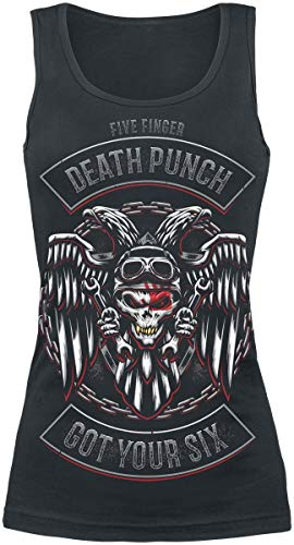Five Finger Death Punch Biker Badge Top schwarz M -