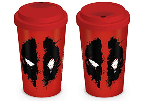 Deadpool Pyramid International (Splat) Official Boxed Ceramic Coffee/Tea Mug, Multi-Colour, 12 oz/340 ml,MGT23839