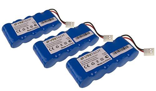 Preisvergleich Produktbild 3 Stück Vinitech Akku als Ersatz für Bosch BOSCH Rollfix 861E, BOSCH Rollfix D870E, BOSCH Rollfix D962E, BOSCH Rollfix FDD087, BOSCH Rollfix FDD087D NiMh 6V 2000mAh