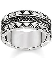 THOMAS SABO Unisex Ring Hieroglyphen-Ornamentik 925er Sterlingsilber,  Geschwärzt TR2107-643-11 3c3bcd928b