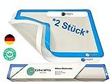 ELEMENTIS Silikon Backmatte (2er Set) BPA frei- Dauerbackfolie für Backofen|Silikon Backpapier|Wiederverwendbares Backpapier & Spülmaschinenfest|30 x40 (START UP)