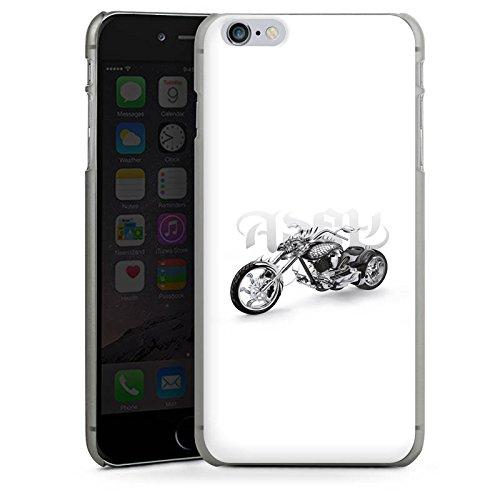 Apple iPhone X Silikon Hülle Case Schutzhülle Motorrad tribal harley Hard Case anthrazit-klar