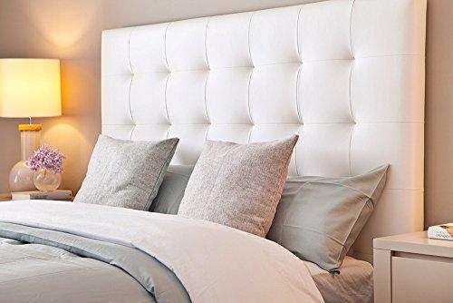suenoszzz Kopfteil * San Francisco * (Camas DE 90 cms) - Medida 100 x 57 cms weiß
