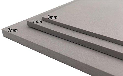 EVA Schaum Blatt Handwerks Blatt Stärke 3mm/5mm/7mm färben des Grau 8 für Cosplay Projekt DIY (9.6