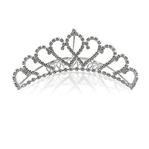 Katara - Diadème romantique mini couronne de princesse avec peigne