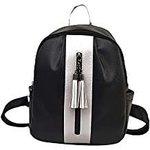 Mochila Escolar Unisexo Casual,Impermeable para Ordenador Portátil,Fashion Party Women Rivet Diagonal Paquete