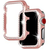 Apple Watch Case 42mm,HYAIZLZ Bling Crystal PC Plate Watch Protector Case Cover for Apple Watch Series 3/2/1 Sport & Edition,Color Champagne