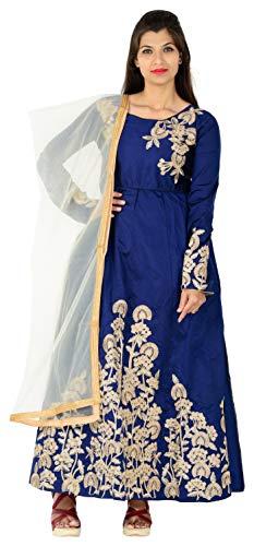 khileshwai fashion Women's Silk Dress Material (ke01_pk02_Free Size_Blue)