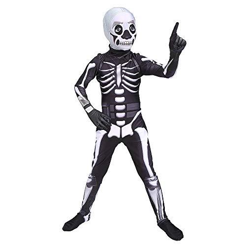 Erwachsenen Ritter Kostüm Schädel Für - POIUYT Erwachsenenfilm Schädel Ritter Kostüm Halloween Kind Festung Nacht Siamesische Strumpfhose Kostümparty Thema Party Requisiten,Adult-XXXL