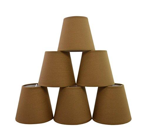 Schatten Sechs Licht Kronleuchter (Doooitlight Set mit 6Clip-Lampenschirmen für Lampen, Leuchten, Kronleuchter Cigar brown)