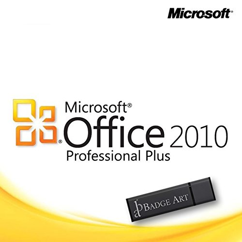 Microsoft Office Professional Plus 2010 32/64 Bit Lizenzschlüssel mit Badge Art® USB-Stick Geschützte Marke