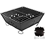 Foldable BBQ Barbecue Flat Pack Portable Camping Outdoor Garden Charcoal Grill
