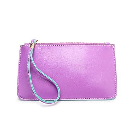 ZARU Frauen Handtaschen -Umschlag, Clutch-Taschen-Taschen-Geldbeutel Lila