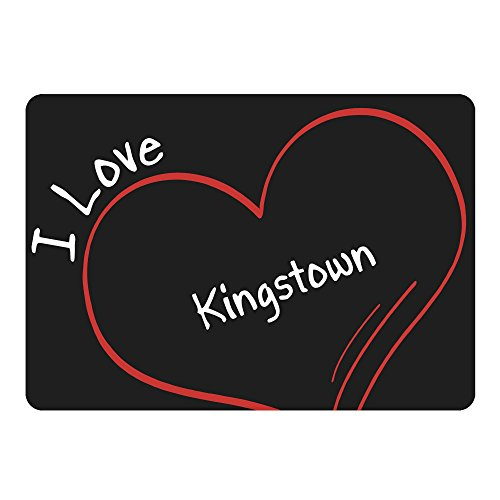 Price comparison product image Mouse Mat Modern I Love Kingstown Black
